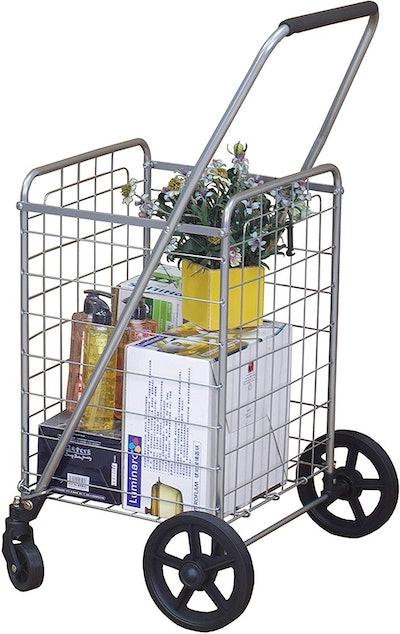 Wellmax WM99024S Grocery Utility Shopping Cart