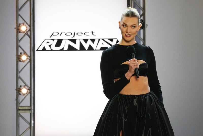 Karlie Kloss on Project Runway