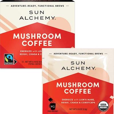 Sun Alchemy Mushroom Coffee (12-Pack, 5.5-Gram Packets)
