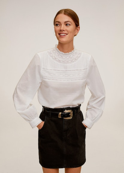 Embroidered Details Blouse
