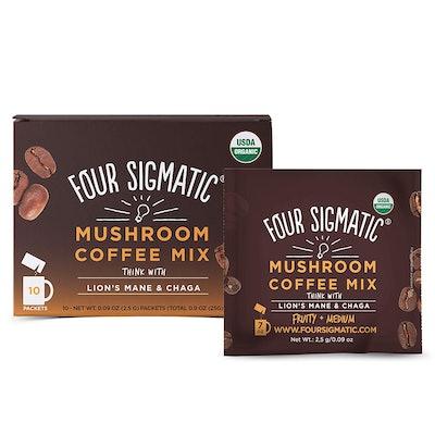 Four Sigmatic Mushroom Coffee (10-Pack, 2.5-Gram Packets)