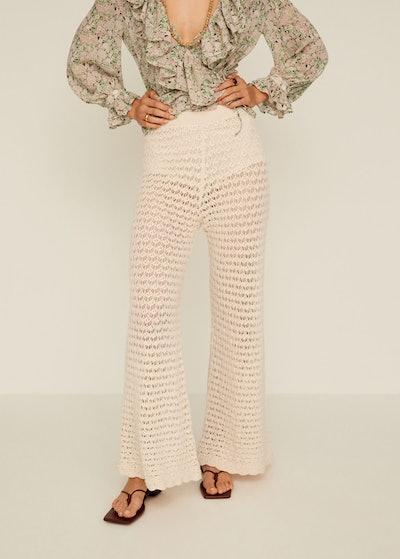 Openwork Cotton Pants