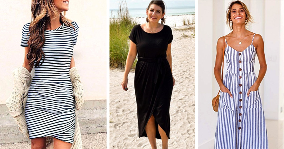 24 Comfortable Dresses That Look Good On Everyone & Are Under $40 On Amazon