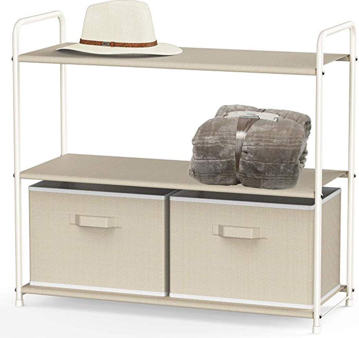 Simple Houseware Closet Storage With 2 Drawers