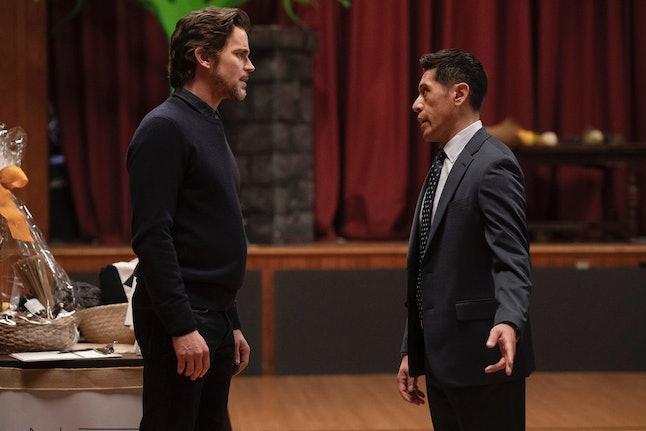 Matt Bomer as Jamie Burns and Eddie Martinez as Vic Soto in The Sinner
