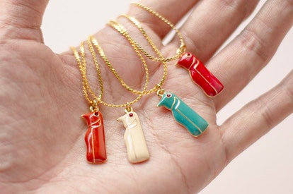 cornerholeshop Vintage Penguin Totem Pendant Necklace