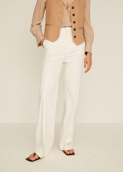 Linen High-Waist Pants