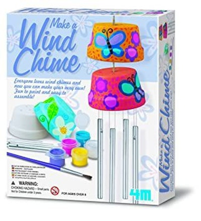Make A Wind Chime Kit - Arts & Crafts Construct & Paint A Wind Powered Musical Chime DIY Gift for Kids, Boys & Girls
