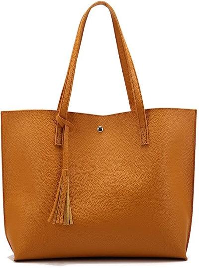 Nodykka Pebbled Leather Tote Bag