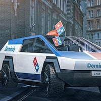 Tesla Cybertruck concept mockups reveal it's perfect for Domino's, taxis and UPS
