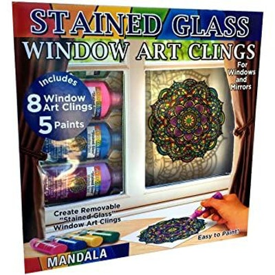 Joy of Coloring Zorbitz, Stained Glass Window Art Cling Kit DIY