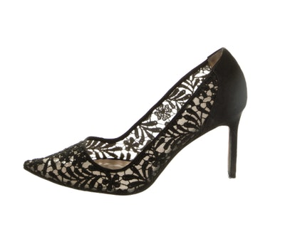 Lace Pointed-Toe Pumps