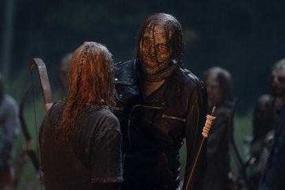 Jeffrey Dean Morgan as Negan and Samantha Morton as Alpha in The Walking Dead