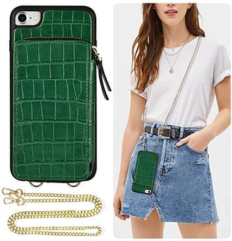 iPhone Wallet Case With Crossbody Chain