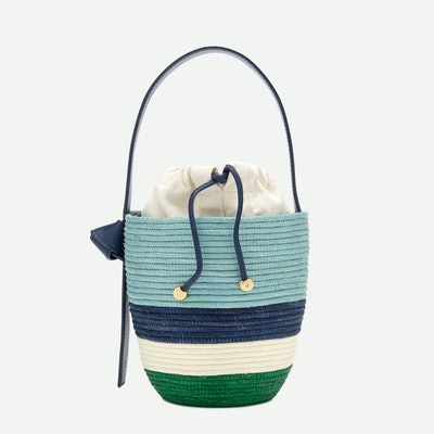 Lunch pail bag - Navy/Pale Mint/Ivory/Kelly