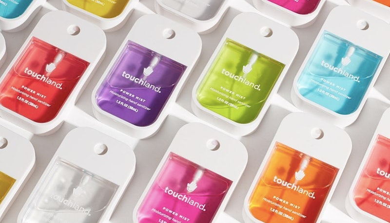 Touchland's hand sanitizer is sold out but will be back in stock in late March