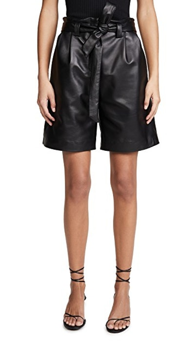 Luis Leather Shorts