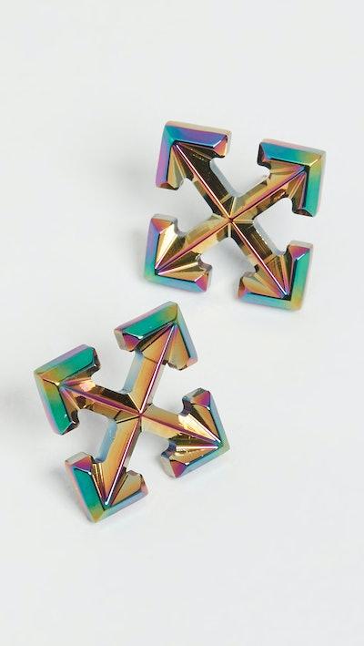 Anodized Mini Arrow Earrings