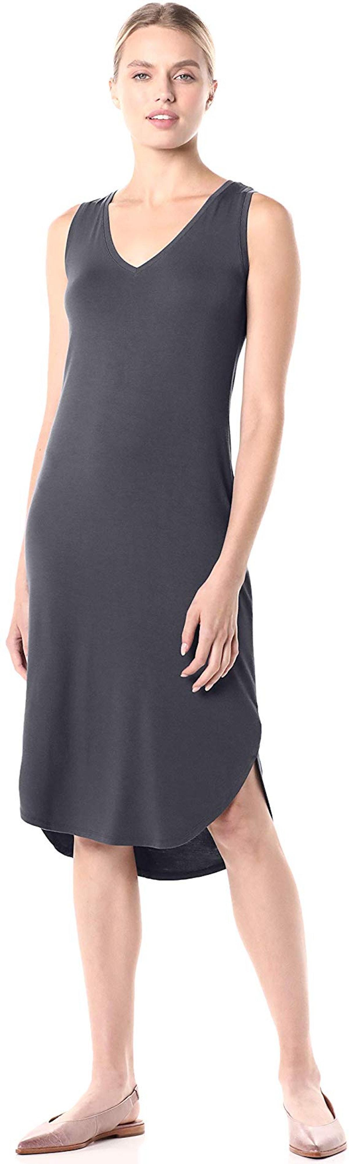 Daily Ritual Jersey Sleeveless V-Neck Midi Dress