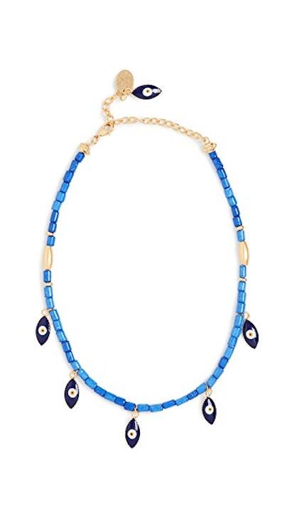 Cobalt Blue Handmade Ceramic Necklace