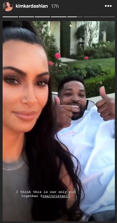 Kim Kardashian's Instagram for Tristan Thompson's birthday was a joke-y selfie.