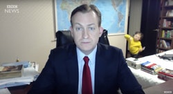 BBC dad live to air has toddler walk in on his interview