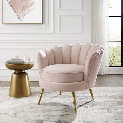 Velvet Accent Armchair