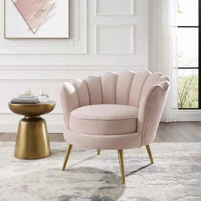 Velvet Accent Armchair