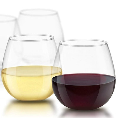 JoyJolt Spirits Stemless Wine Glasses (Set of 4)