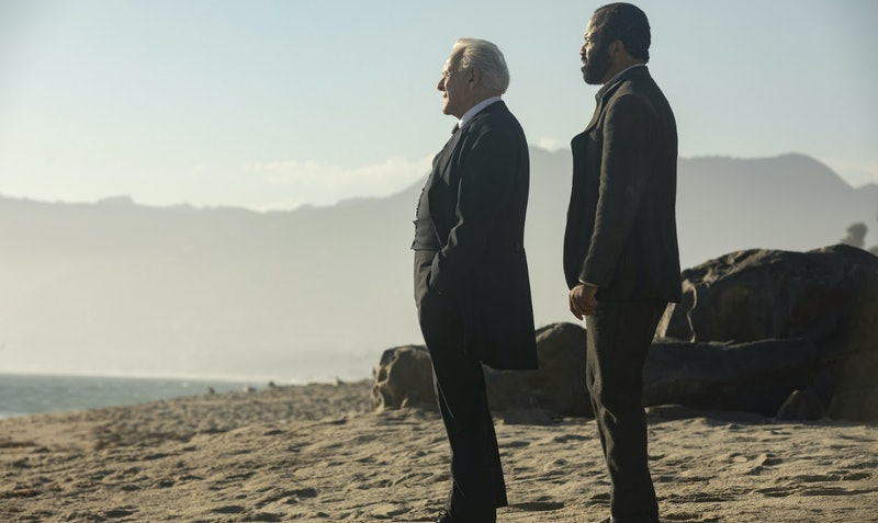 Bernard and Dr. Ford in Westworld.