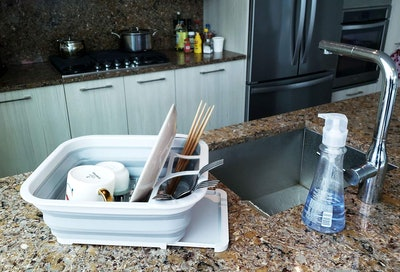 SAMMART Collapsible Dish Drainer With Drainer Board