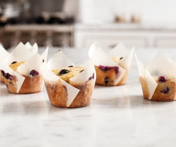 Blueberry Banana Muffins are great for breakfast or as a dessert.