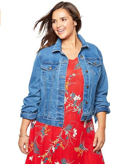 Woman Within Plus Size Denim Jacket
