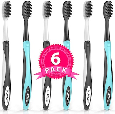 Nuva Dent Charcoal Toothbrush (6-Pack)