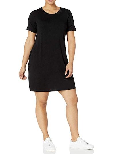 Daily Ritual Plus Size Scoop Neck T-Shirt Dress