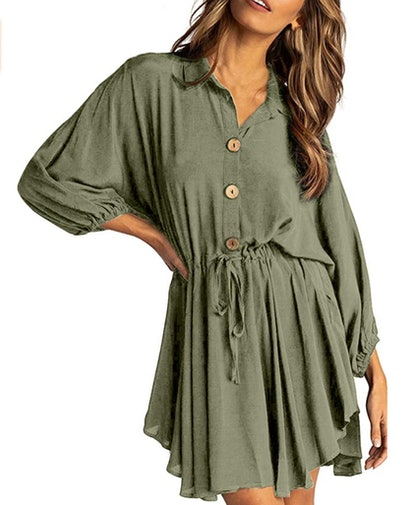 Happy Sailed Button Down Dress