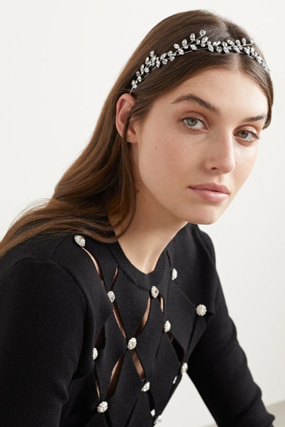 Vera Circlet Silver-Tone Swarovski Crystal Headband