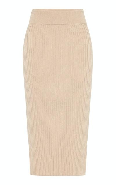 Lia Stretch-Knit Midi Skirt