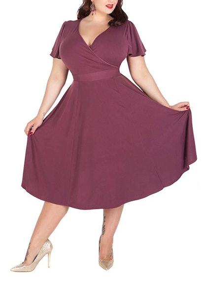 Nemidor Plus Size Midi Dress