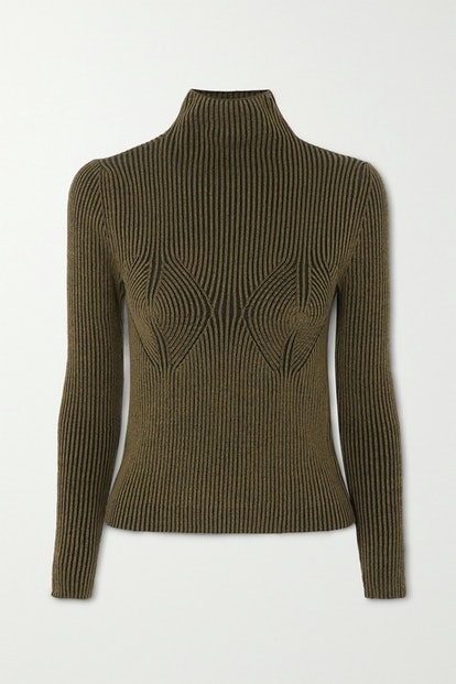 Mida Ribbed Stretch-Modal Turtleneck Sweater