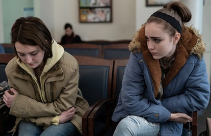 Sidney Flanigan, left, and Talia Ryder in 'Never Rarely Sometimes Always.' (Angal Field/Focus Featur...