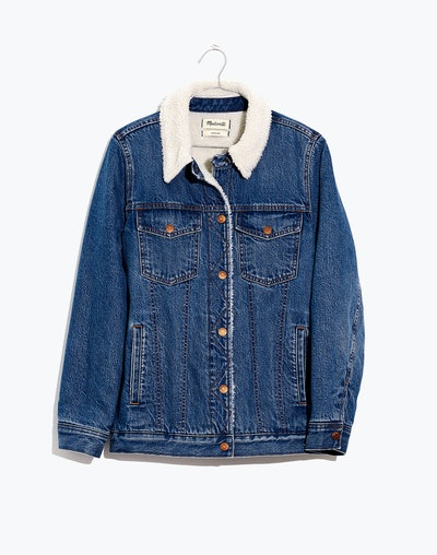 The Oversized Jean Jacket in Donaway Wash: Sherpa Edition