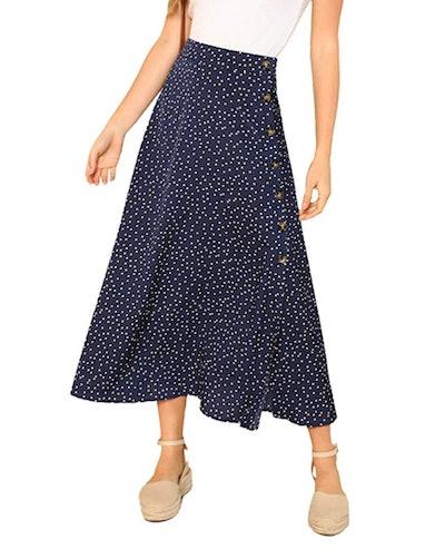 SheIn A-Line Midi Skirt