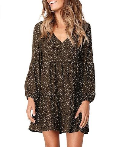 Amoretu  V-Neck Tunic Dress