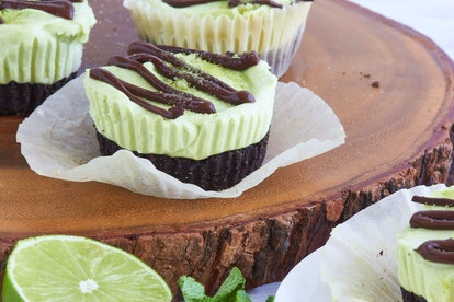 Recipes like mini lime and mint cheesecakes are the perfect thing to bake when you're bored.