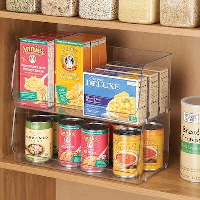 mDesign Stackable Plastic Food Storage Bin