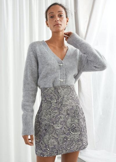 Paisley Jacquard Mini Skirt