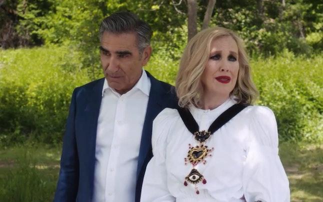 Johnny and Moira Rose in 'Schitt's Creek' Season 6