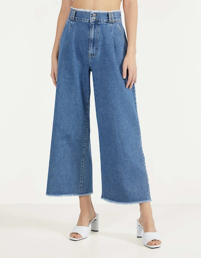 Culottes with frayed hems