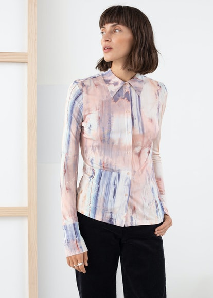 Watercolour Button Up Blouse
